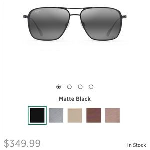 Men's Beaches black matte Maui Jim sunglasses
